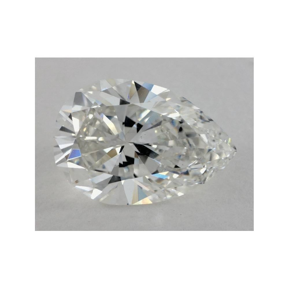 4.99 Carat Pear Loose Diamond, G, VS1, Excellent, GIA Certified | Thumbnail