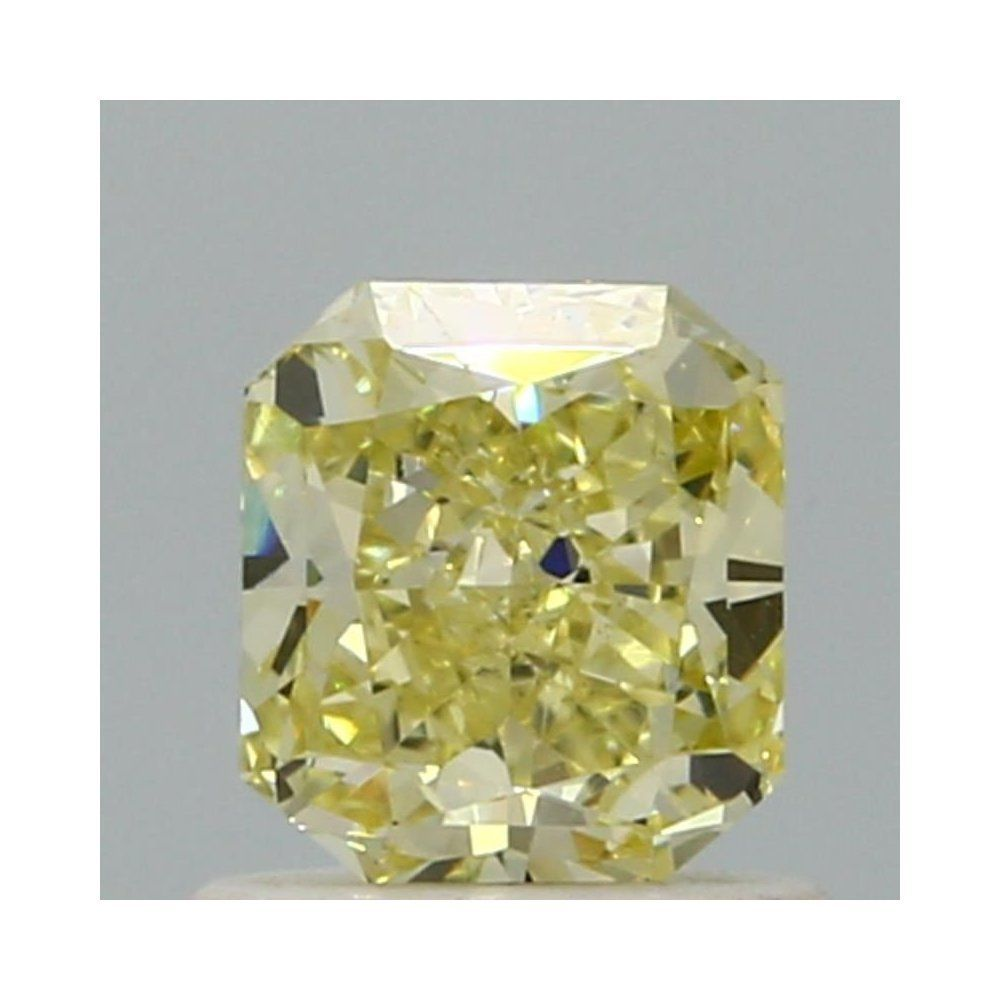 0.79 Carat Radiant Loose Diamond, Fancy Yellow, SI1, Very Good, GIA Certified