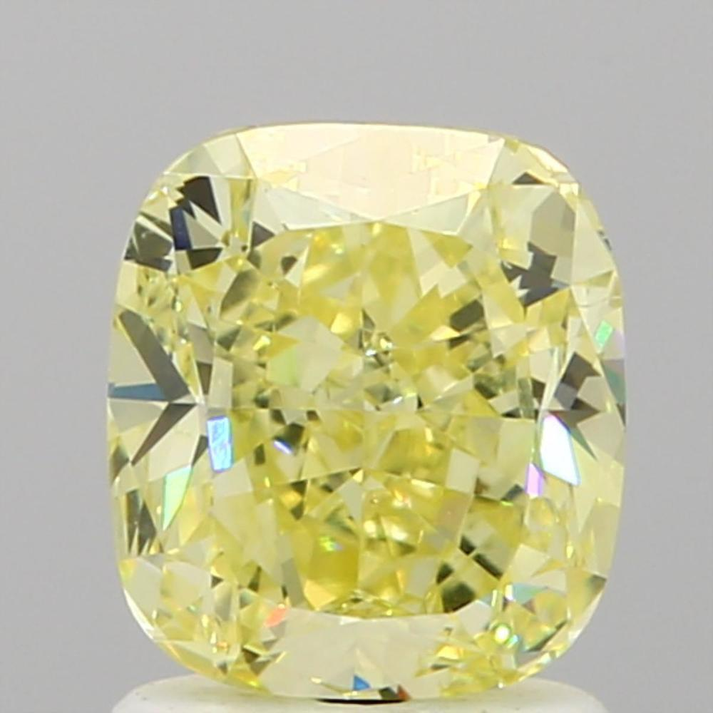 1.54 Carat Cushion Loose Diamond, Fancy Yellow, VS2, Excellent, GIA Certified | Thumbnail