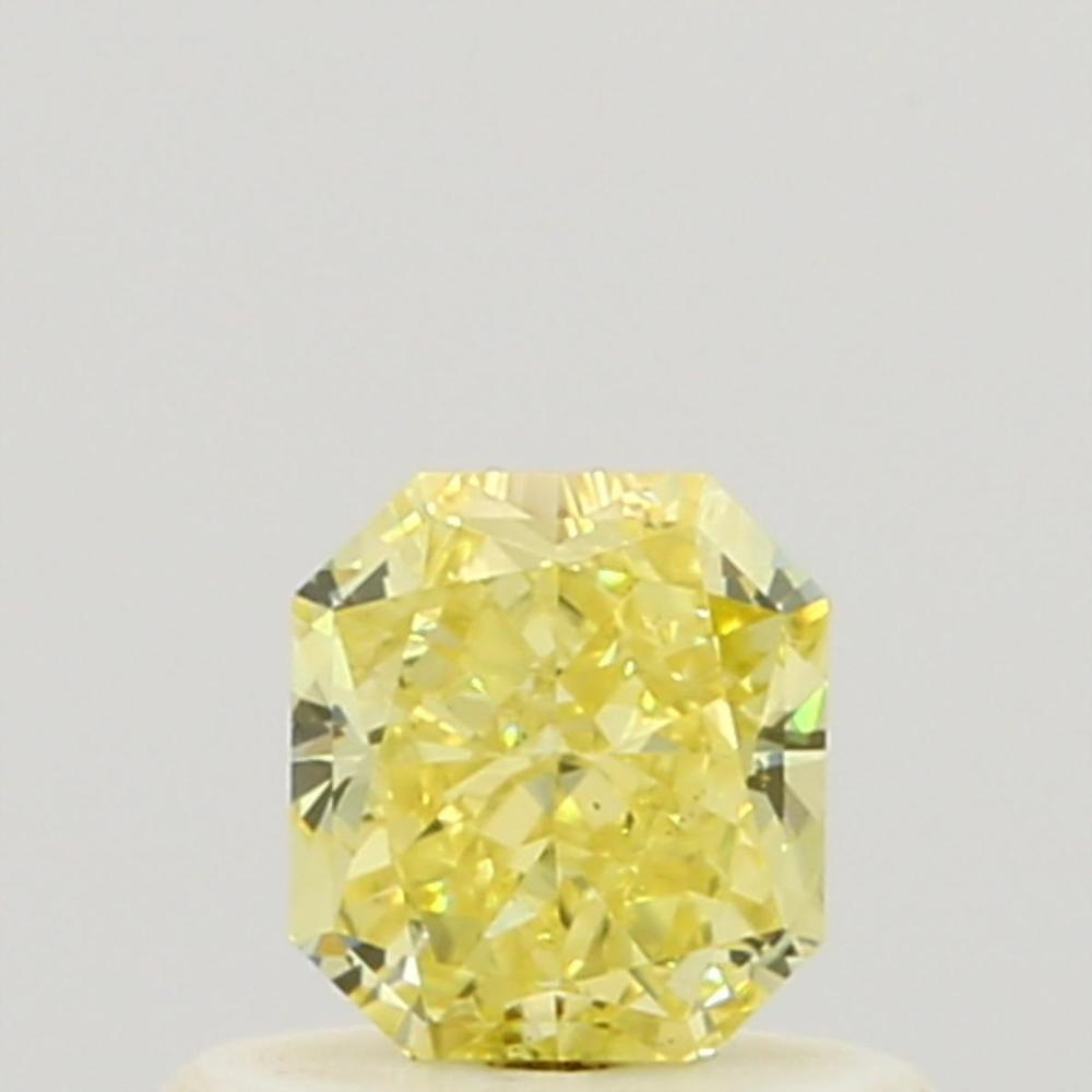 0.44 Carat Radiant Loose Diamond, Fancy Intense Yellow, SI2, Ideal, GIA Certified