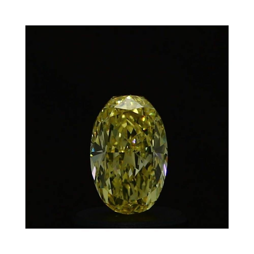 0.56 Carat Oval Loose Diamond, Fancy Yellow, VS2, Very Good, GIA Certified