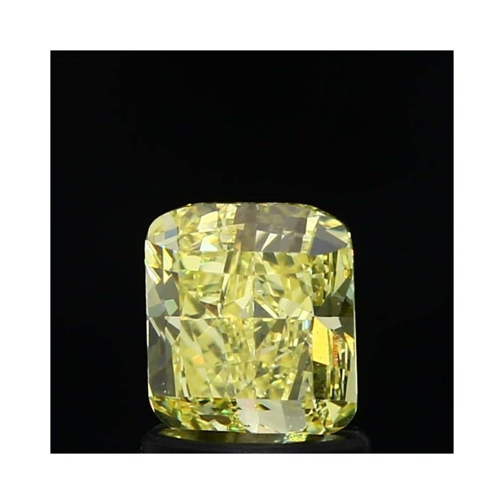 1.10 Carat Cushion Loose Diamond, Fancy Intense Yellow, VS2, Ideal, GIA Certified