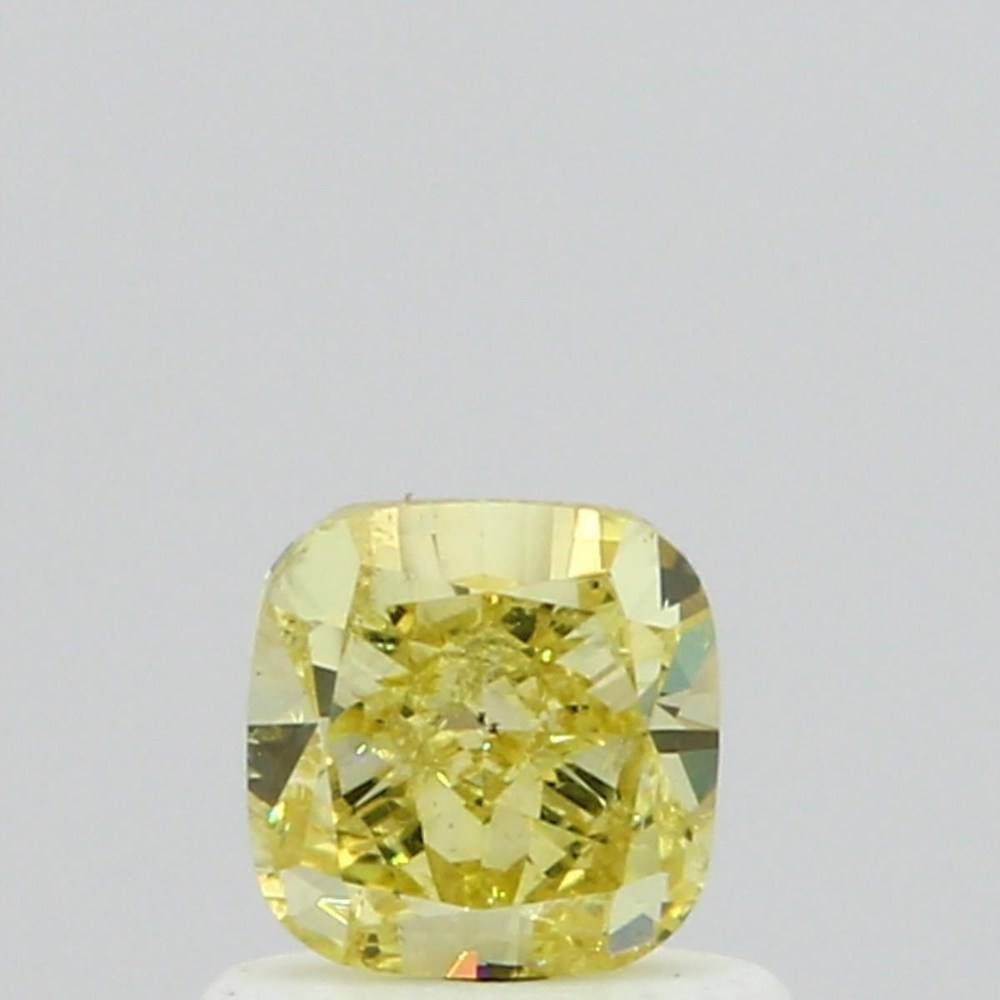 0.70 Carat Cushion Loose Diamond, Fancy Yellow, SI2, Very Good, GIA Certified