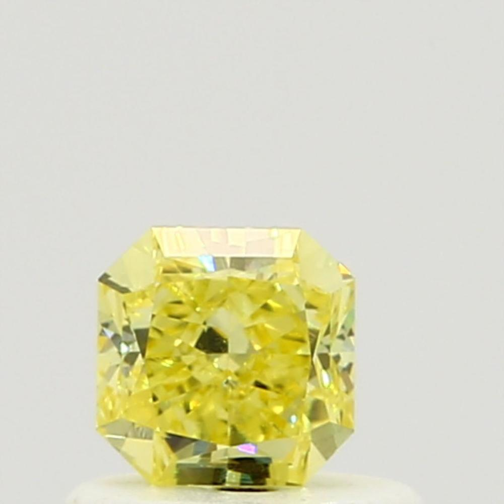 0.52 Carat Radiant Loose Diamond, Fancy Intense Yellow, VS1, Ideal, GIA Certified