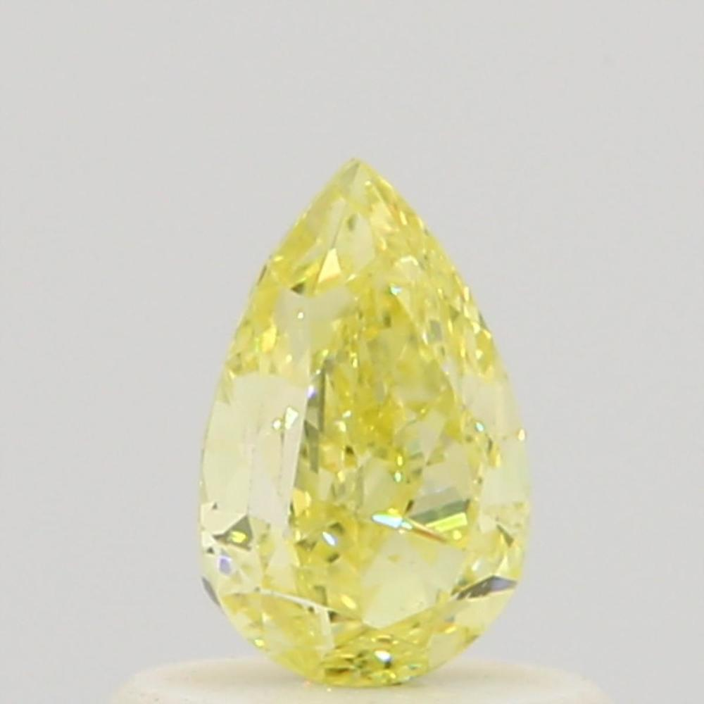 0.50 Carat Pear Loose Diamond, Fancy Yellow, VS1, Very Good, GIA Certified