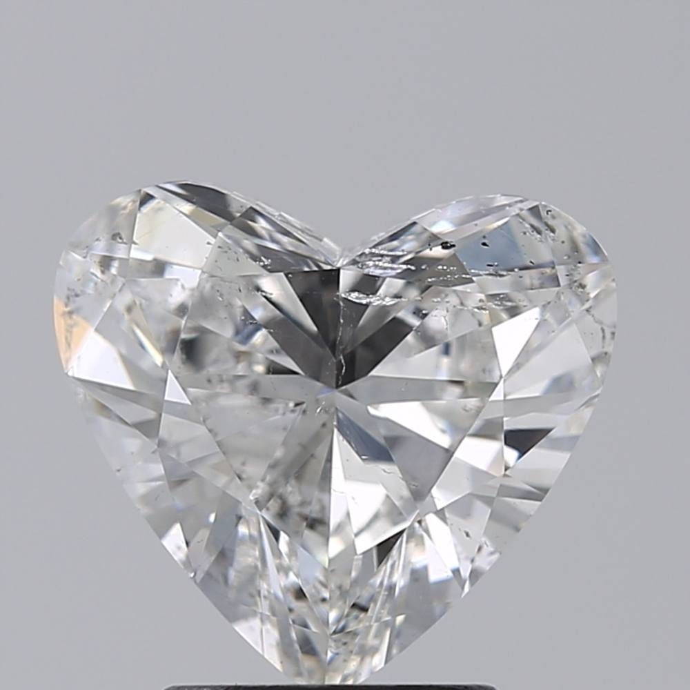 2.06 Carat Heart Loose Diamond, F, SI2, Very Good, GIA Certified
