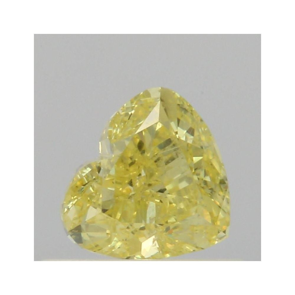 0.50 Carat Heart Loose Diamond, Fancy Intense Yellow, SI2, Excellent, GIA Certified