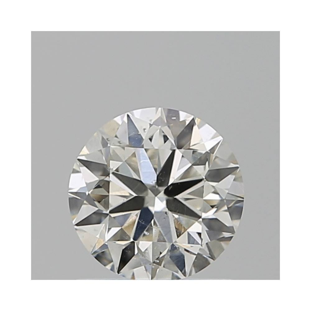 0.90 Carat Round Loose Diamond, J, SI1, Excellent, GIA Certified