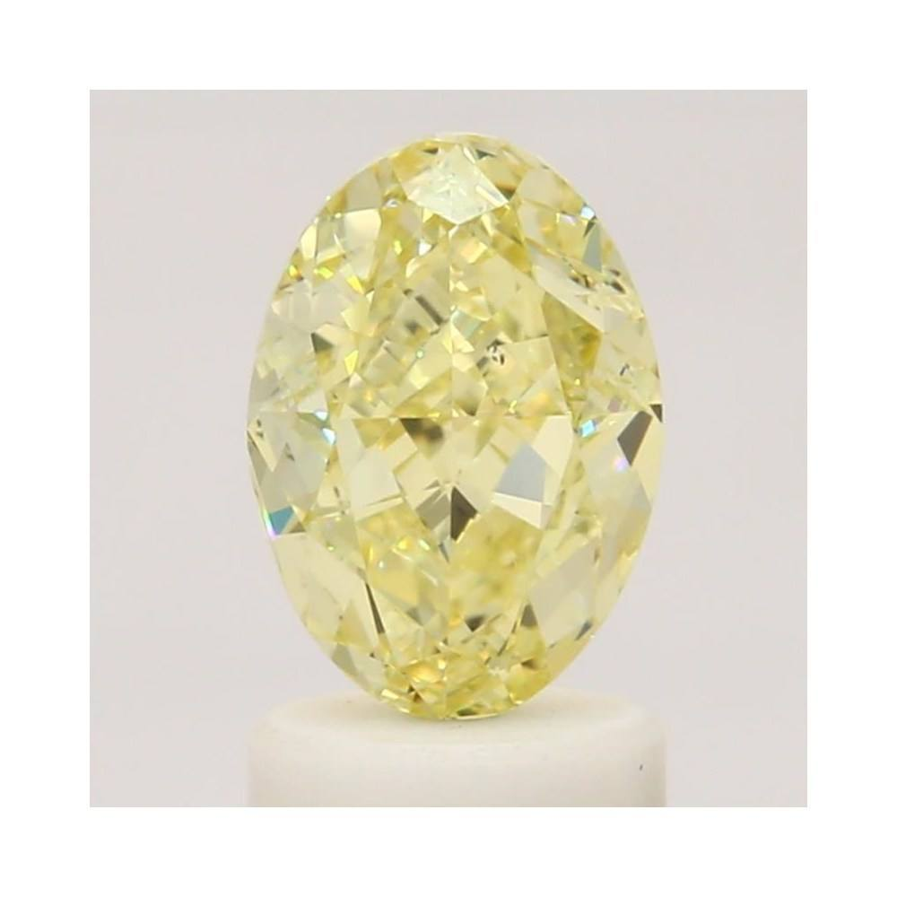 1.61 Carat Oval Loose Diamond, Fancy Yellow, VS2, Excellent, GIA Certified