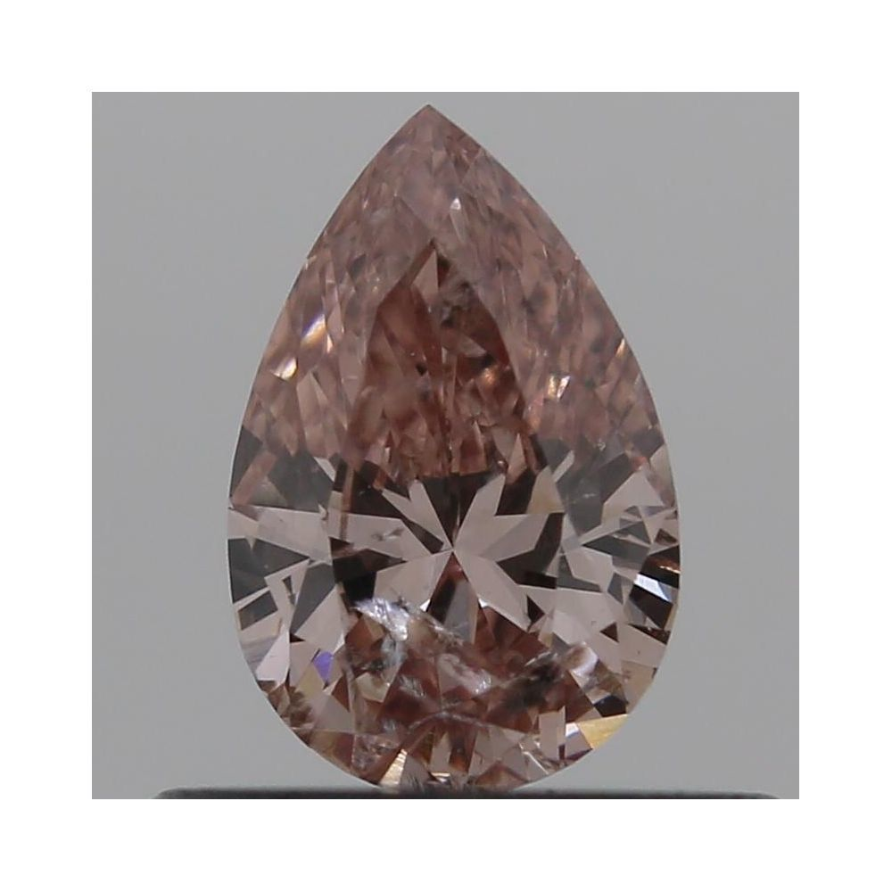 0.36 Carat Pear Loose Diamond, Fancy Intense Orangy Pink, I1, Excellent, GIA Certified