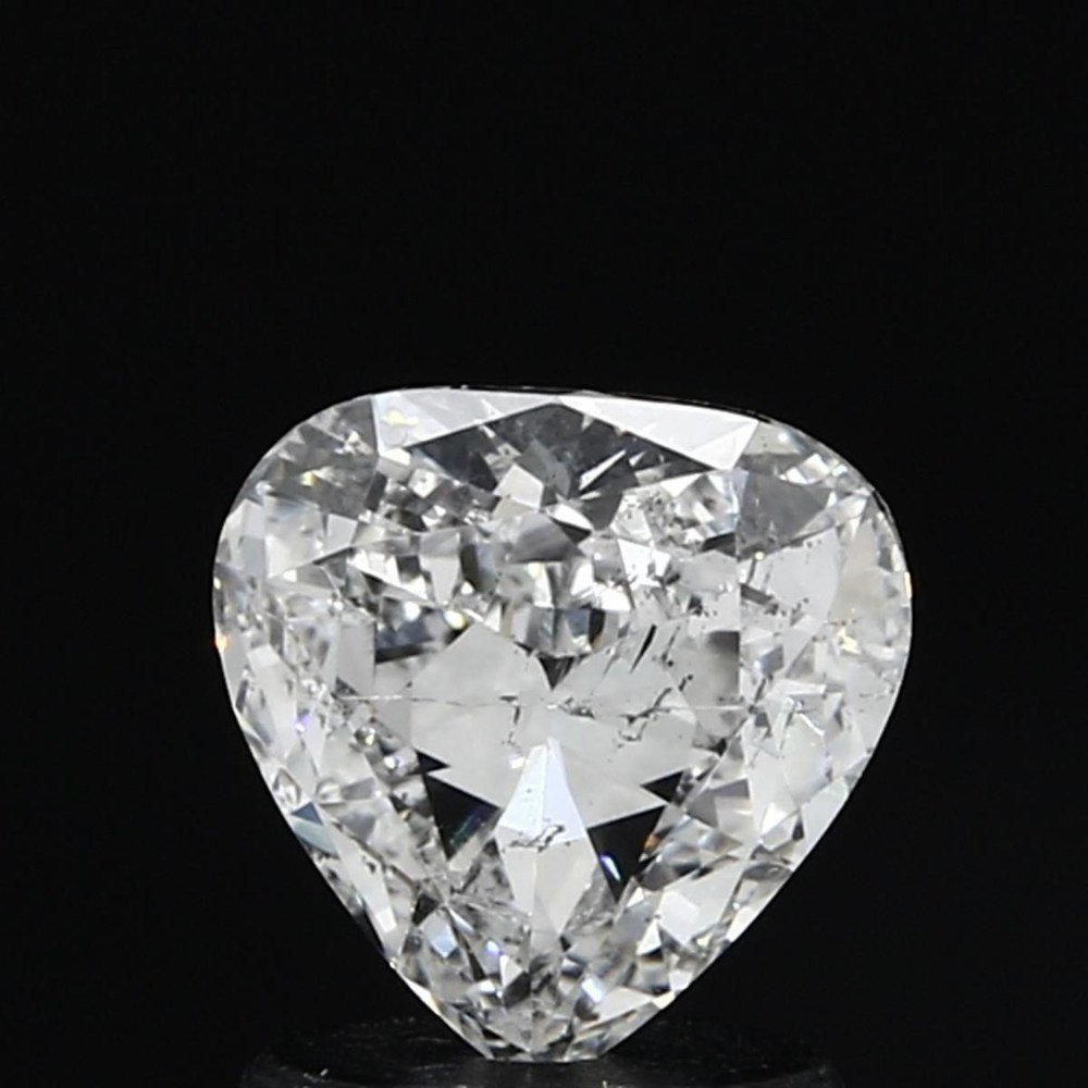 0.98 Carat Heart Loose Diamond, F, SI2, Very Good, GIA Certified