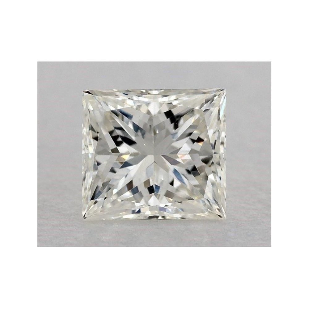 0.70 Carat Princess Loose Diamond, J, VVS2, Excellent, GIA Certified