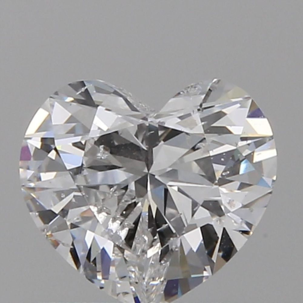 0.73 Carat Heart Loose Diamond, D, SI2, Ideal, GIA Certified | Thumbnail