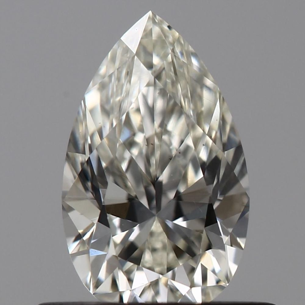 0.52 Carat Pear Loose Diamond, H, VS1, Excellent, GIA Certified
