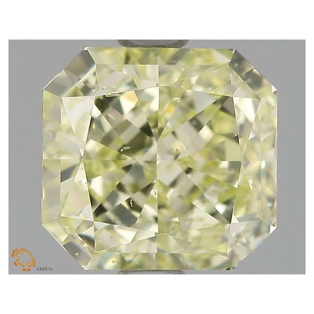 1.71 Carat Radiant Loose Diamond, Fancy Yellow, SI2, Excellent, GIA Certified
