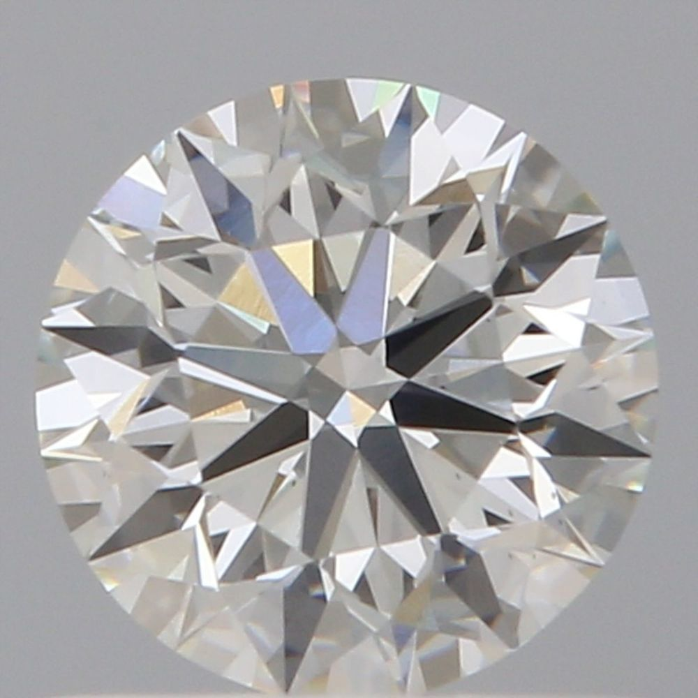 0.61 Carat Round Loose Diamond, H, VS1, Super Ideal, GIA Certified