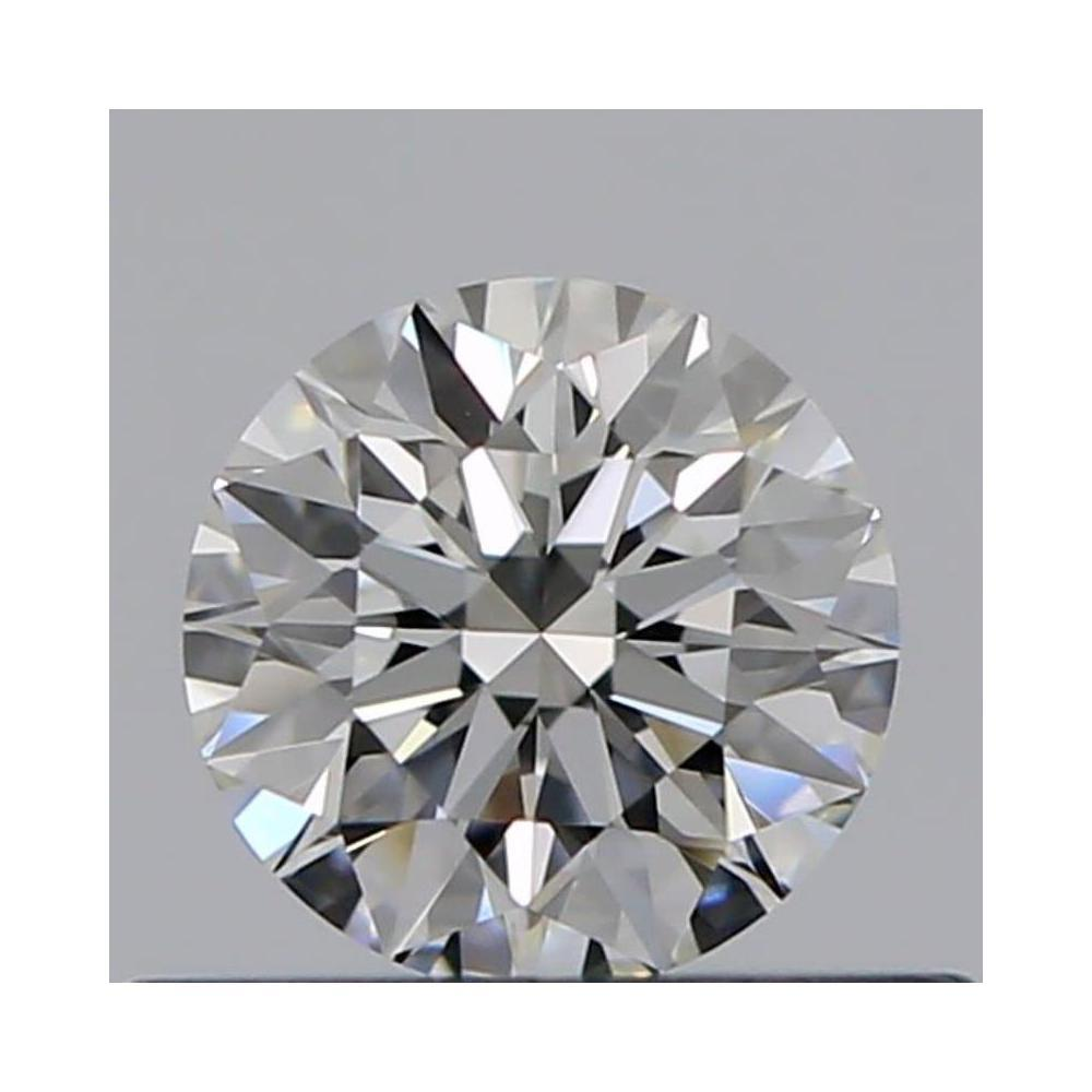 0.40 Carat Round Loose Diamond, G, IF, Excellent, GIA Certified