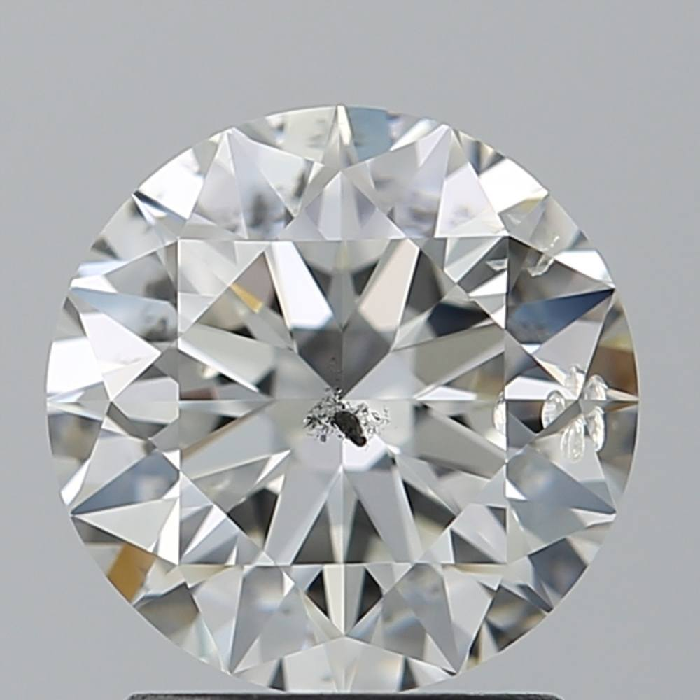 1.70 Carat Round Loose Diamond, G, SI2, Super Ideal, IGI Certified