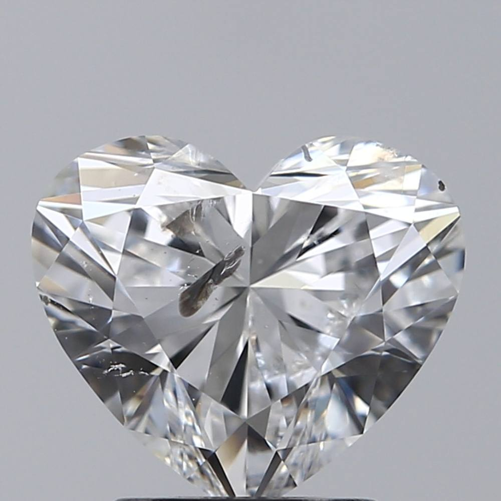 2.03 Carat Heart Loose Diamond, E, SI2, Super Ideal, IGI Certified