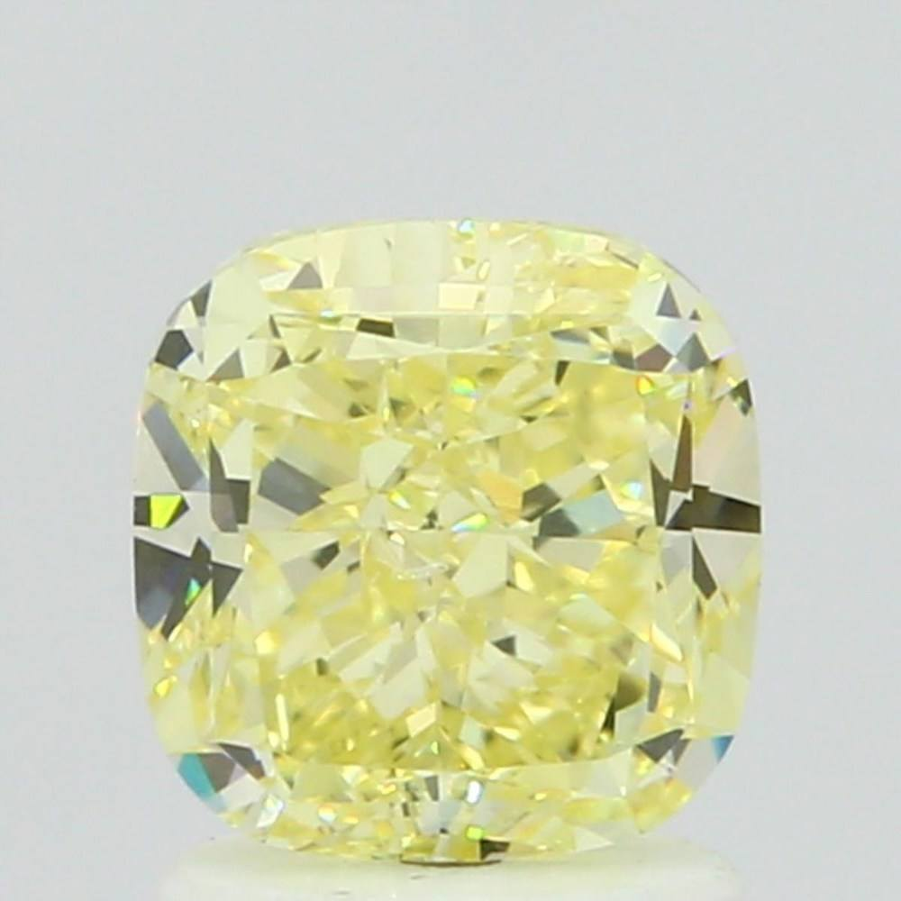 1.53 Carat Cushion Loose Diamond, Fancy Yellow, SI1, Excellent, GIA Certified