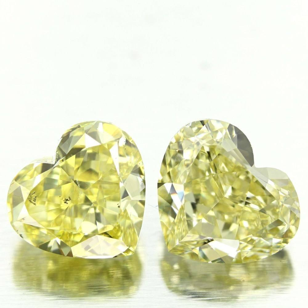 3.01 Carat Heart Loose Diamond, Fancy Intense Yellow, SI2, Very Good, GIA Certified