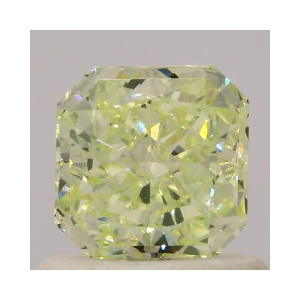 0.61 Carat Radiant Loose Diamond, Fancy Light Yellow Green, VVS2, Very Good, GIA Certified | Thumbnail
