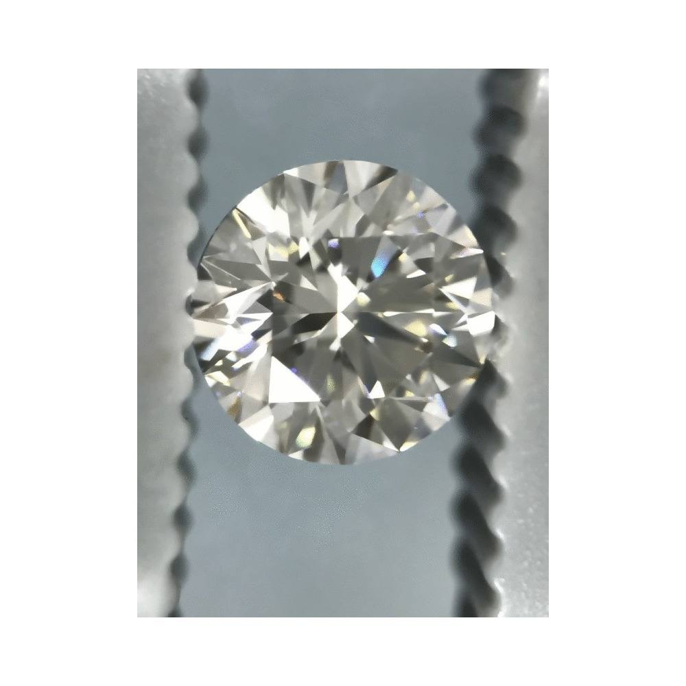 0.70 Carat Round Loose Diamond, I, VVS2, Excellent, GIA Certified | Thumbnail