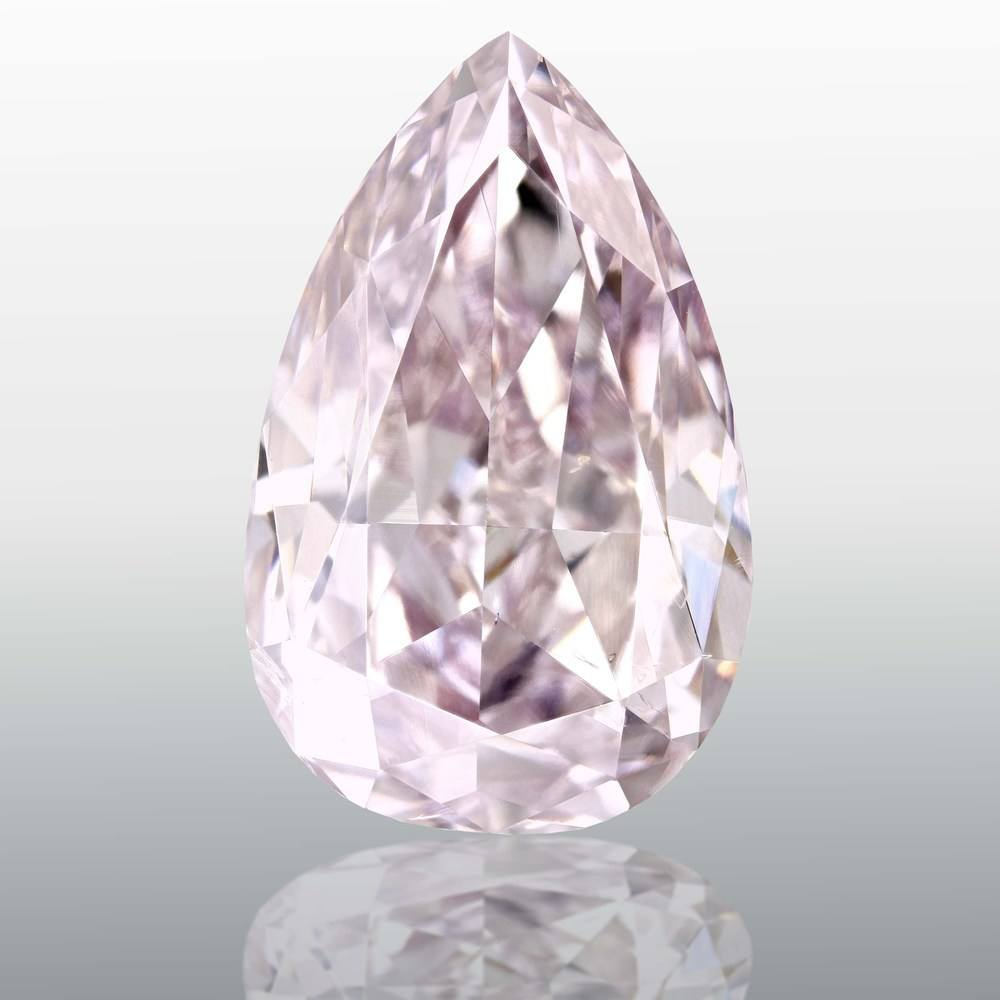 2.58 Carat Pear Loose Diamond, Fancy Pink Purple, SI2, Excellent, GIA Certified