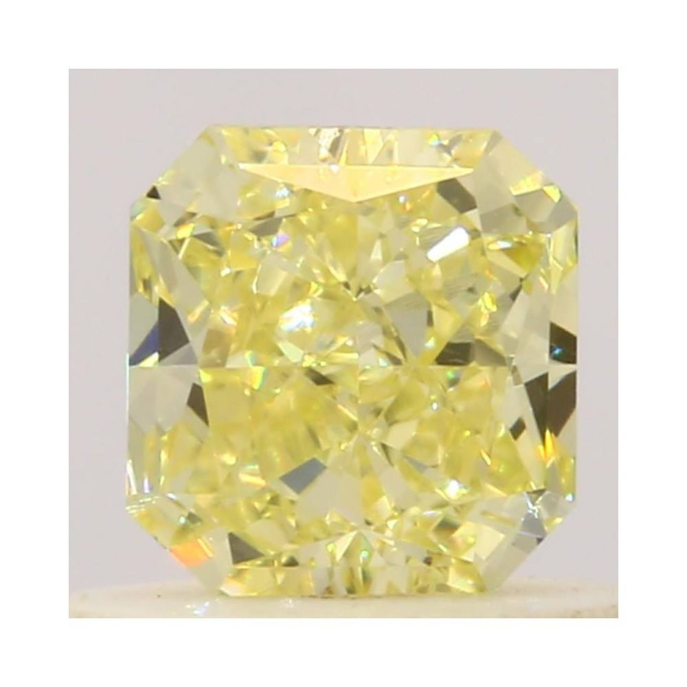 0.44 Carat Radiant Loose Diamond, Fancy Yellow, VS1, Excellent, GIA Certified
