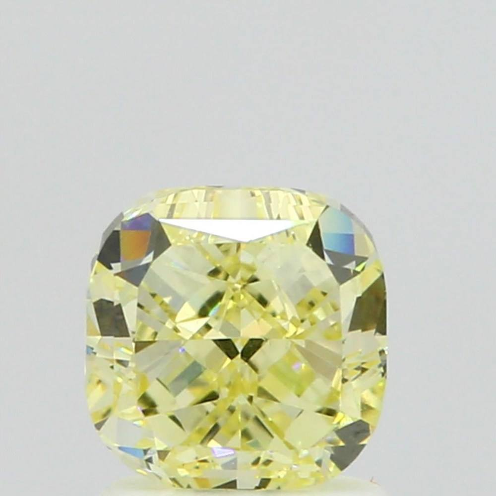 1.56 Carat Cushion Loose Diamond, Fancy Yellow, VS1, Good, GIA Certified