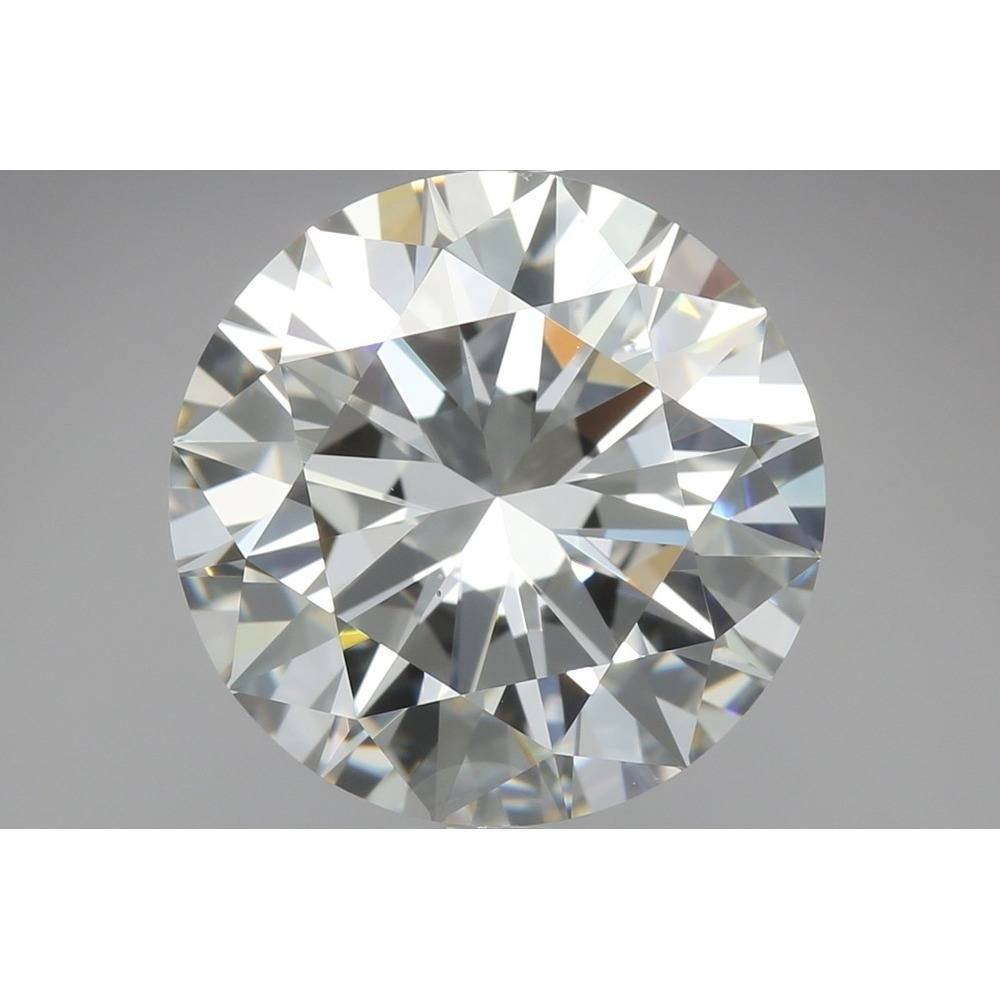 4.03 Carat Round Loose Diamond, F, VS2, Super Ideal, GIA Certified