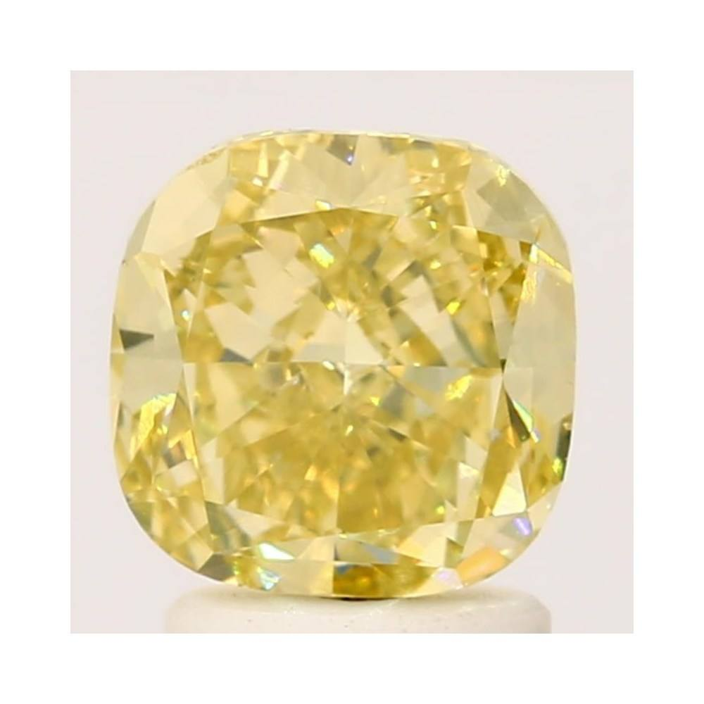 1.74 Carat Cushion Loose Diamond, Fancy Intense Yellow, VS2, Excellent, GIA Certified