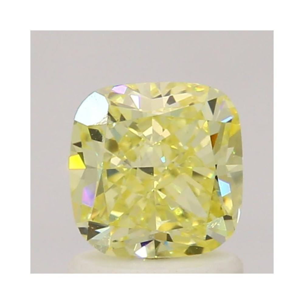 1.20 Carat Cushion Loose Diamond, Fancy Yellow, VVS2, Excellent, GIA Certified