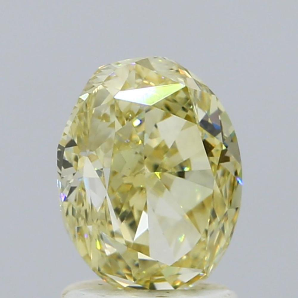 1.84 Carat Oval Loose Diamond, Fancy Yellow, VVS2, Excellent, GIA Certified