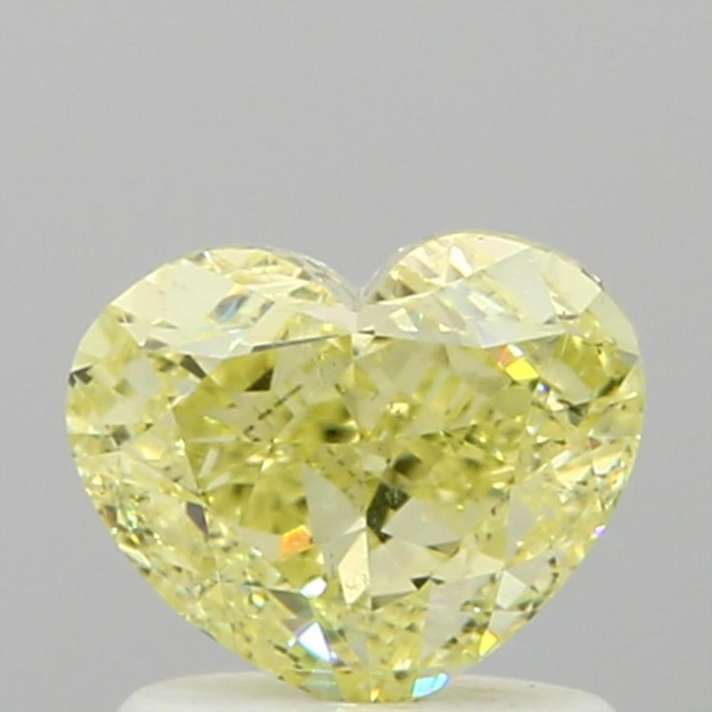 1.06 Carat Heart Loose Diamond, Fancy Yellow, SI1, Ideal, GIA Certified