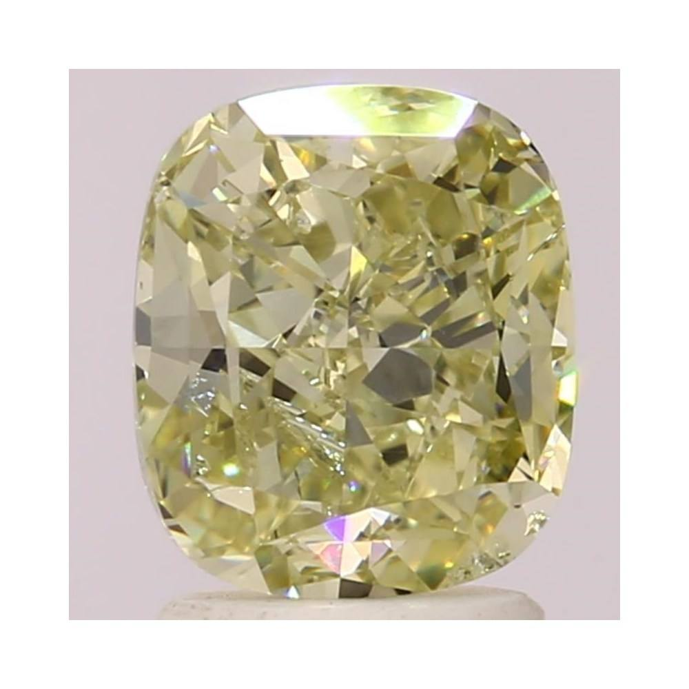 2.02 Carat Cushion Loose Diamond, Fancy Grayish Greenish Yellow, SI2, Ideal, GIA Certified