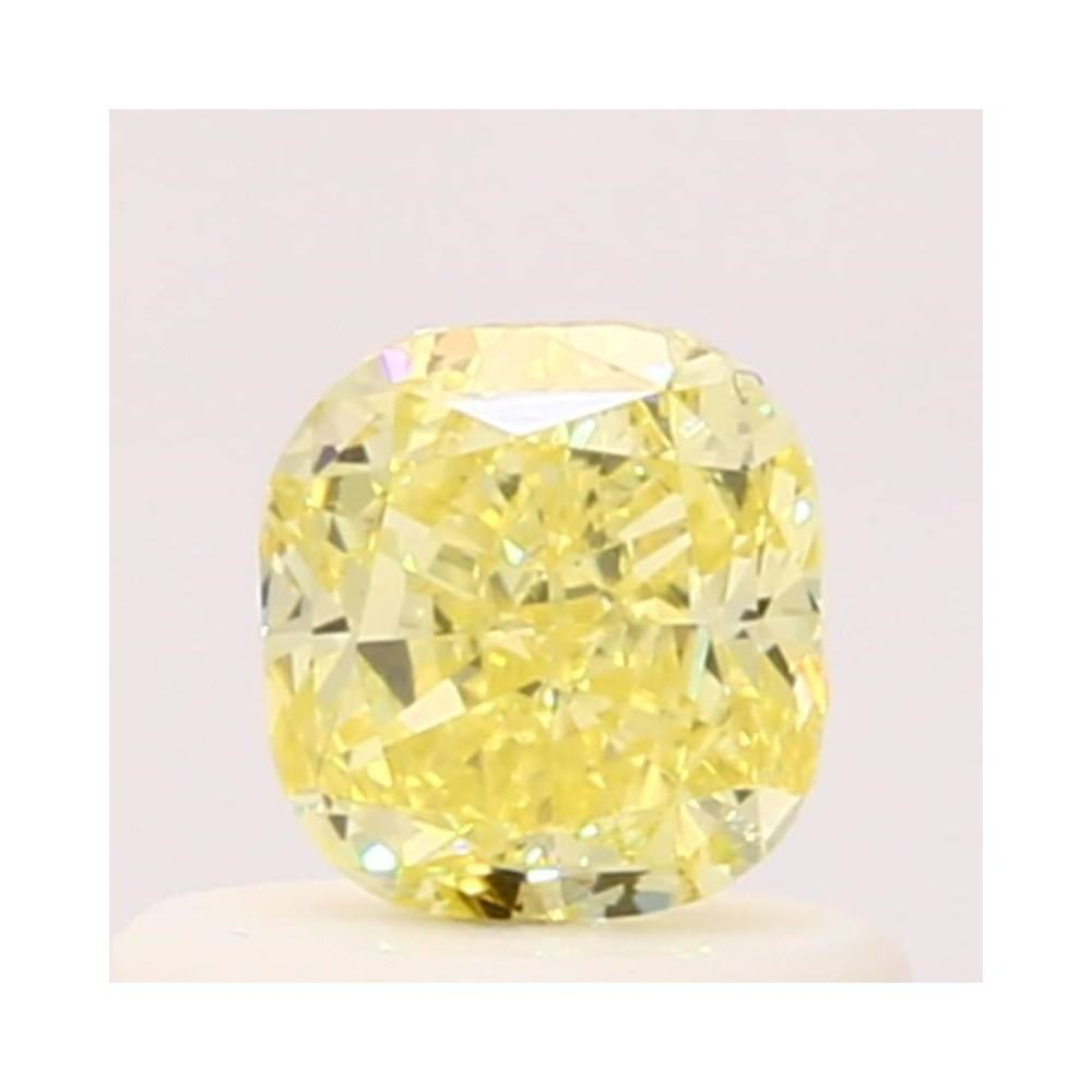 0.47 Carat Cushion Loose Diamond, Fancy Yellow, SI1, Excellent, GIA Certified