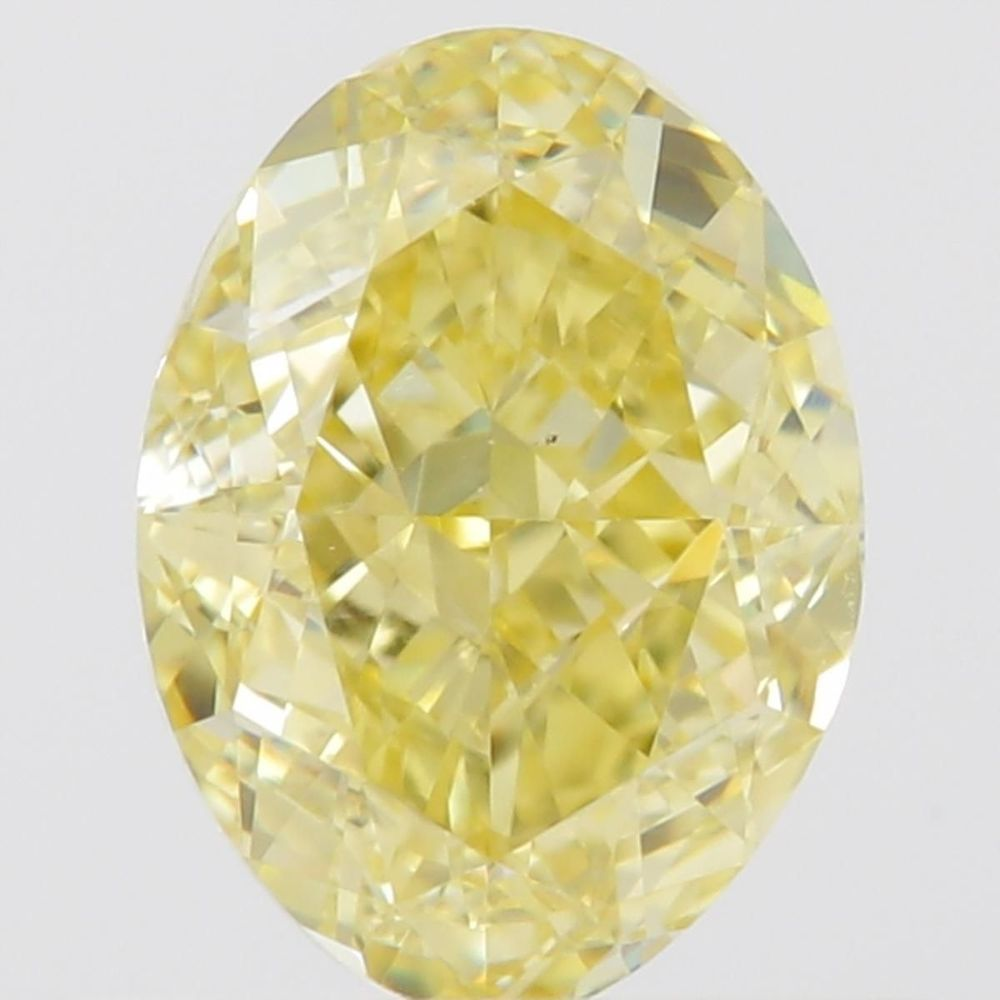 0.73 Carat Oval Loose Diamond, Fancy Yellow, VS2, Excellent, GIA Certified