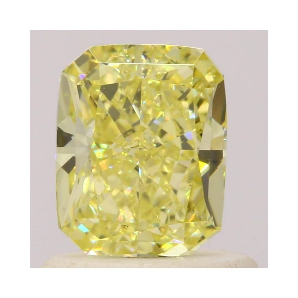 0.80 Carat Radiant Loose Diamond, Fancy Yellow, VS1, Excellent, GIA Certified