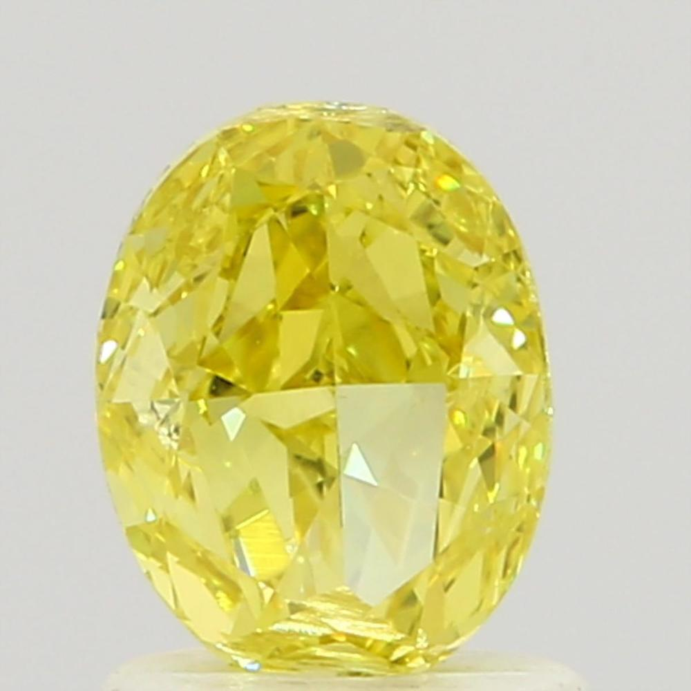 1.00 Carat Oval Loose Diamond, Fancy Intense Yellow, VS2, Ideal, GIA Certified