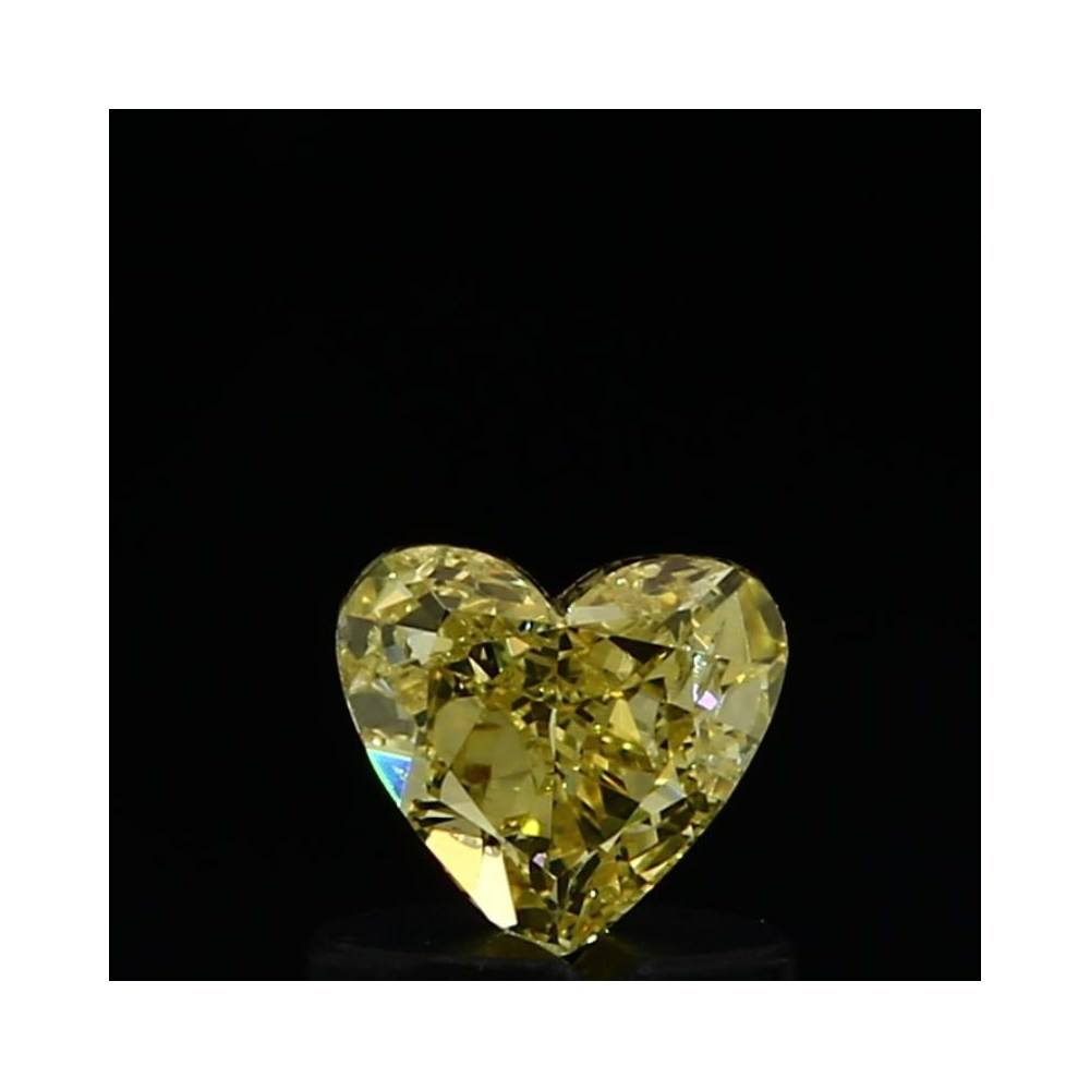 0.47 Carat Heart Loose Diamond, Fancy Yellow, SI1, Very Good, GIA Certified