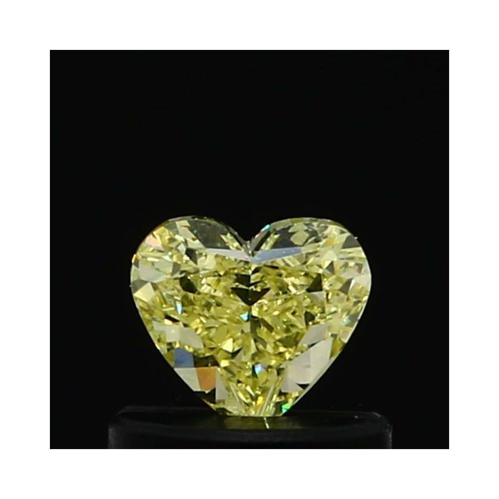 0.45 Carat Heart Loose Diamond, Fancy Yellow, VS2, Excellent, GIA Certified