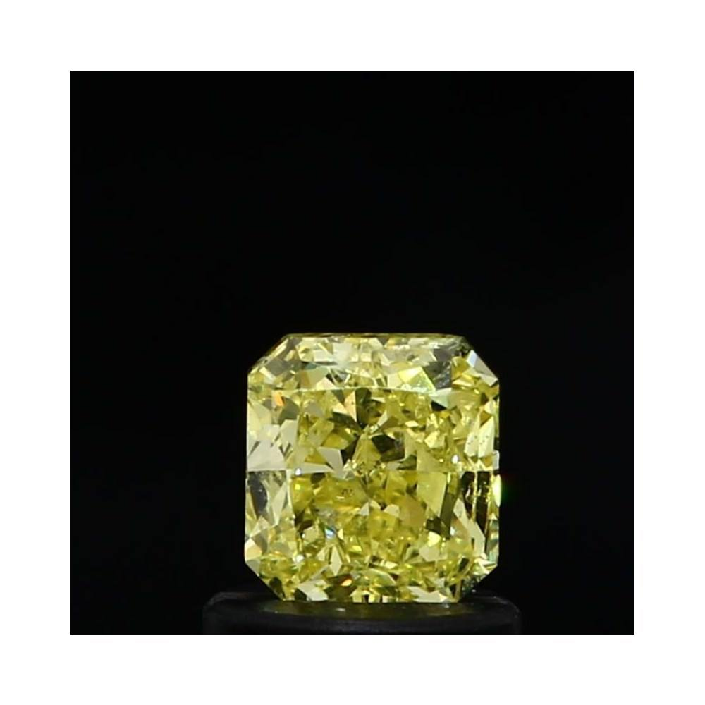 0.71 Carat Radiant Loose Diamond, Fancy Yellow, SI2, Ideal, GIA Certified
