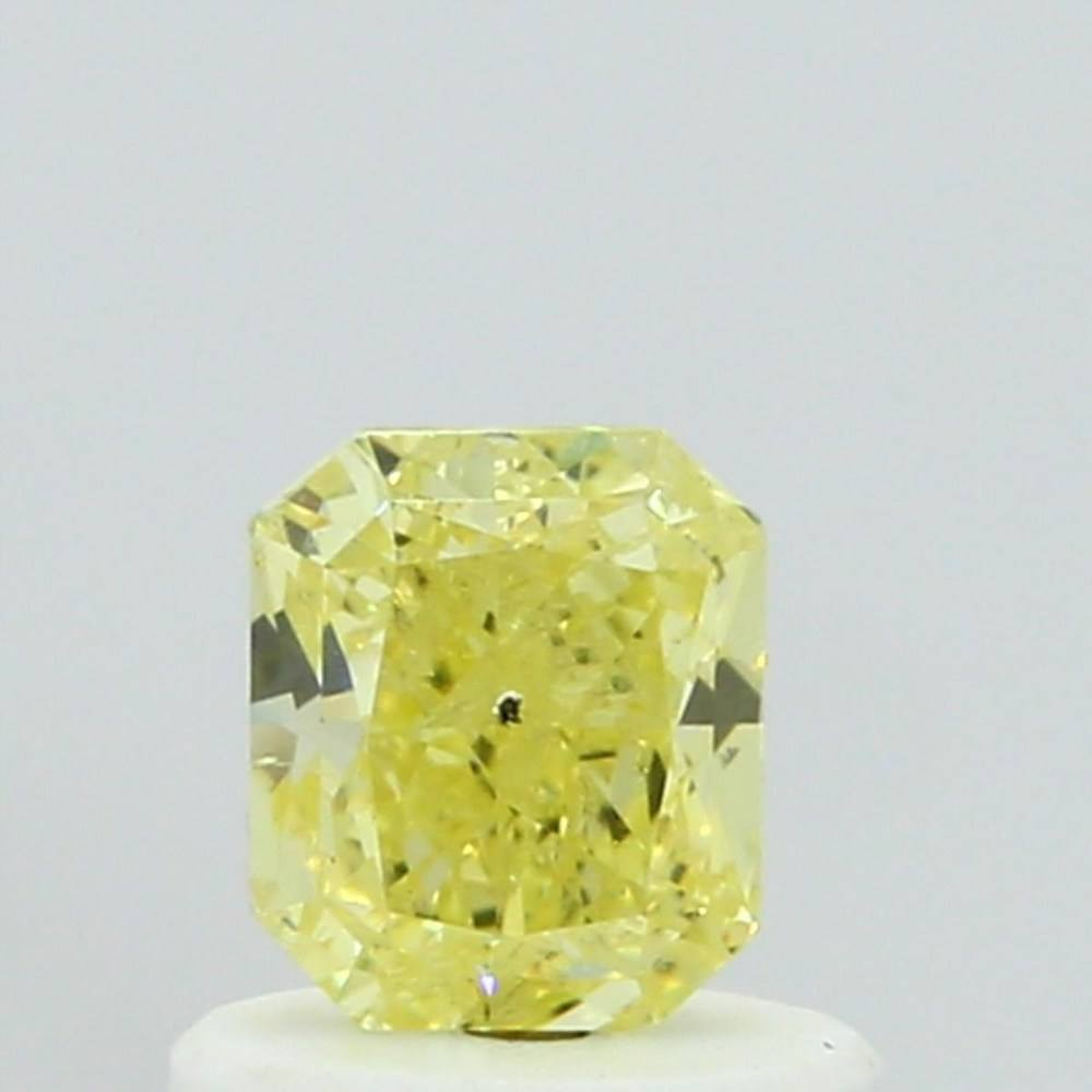 0.60 Carat Radiant Loose Diamond, Fancy Yellow, SI2, Very Good, GIA Certified