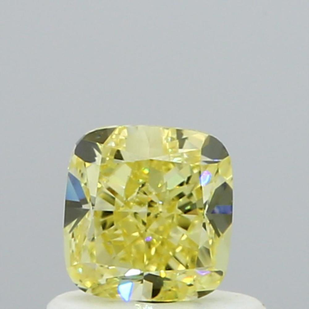 0.61 Carat Cushion Loose Diamond, Fancy Yellow, VS1, Very Good, GIA Certified