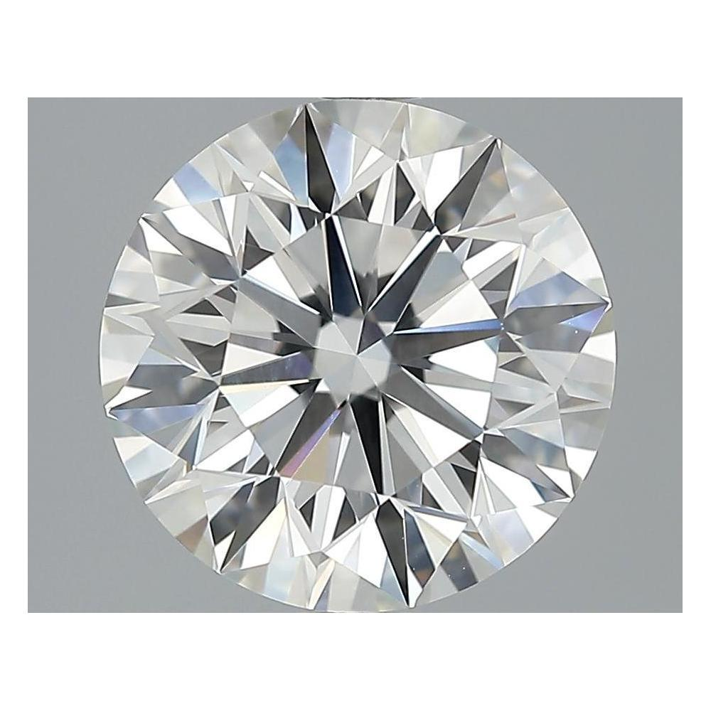 3.52 Carat Round Loose Diamond, H, VVS1, Super Ideal, GIA Certified