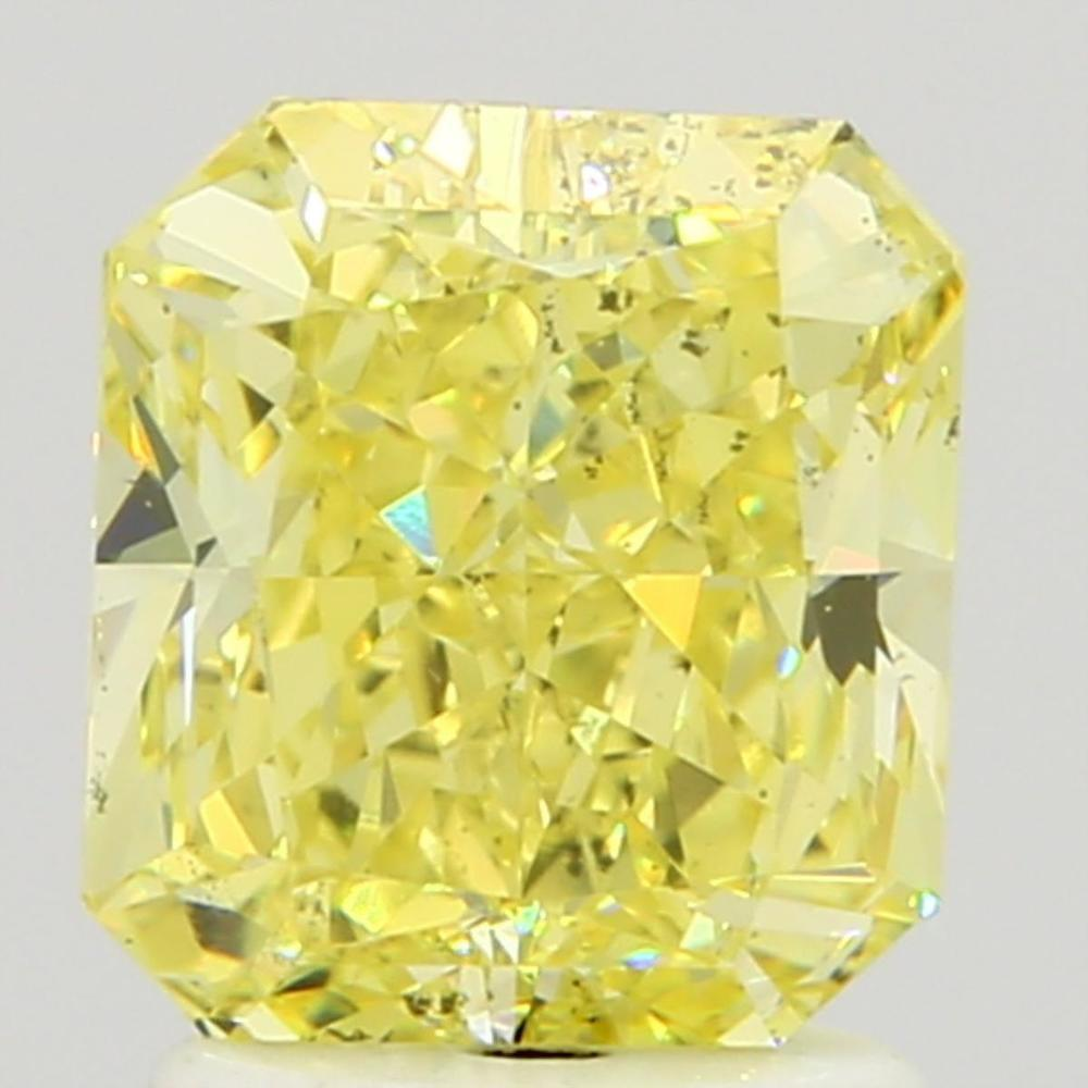 2.01 Carat Radiant Loose Diamond, Fancy Intense Yellow, SI1, Excellent, GIA Certified