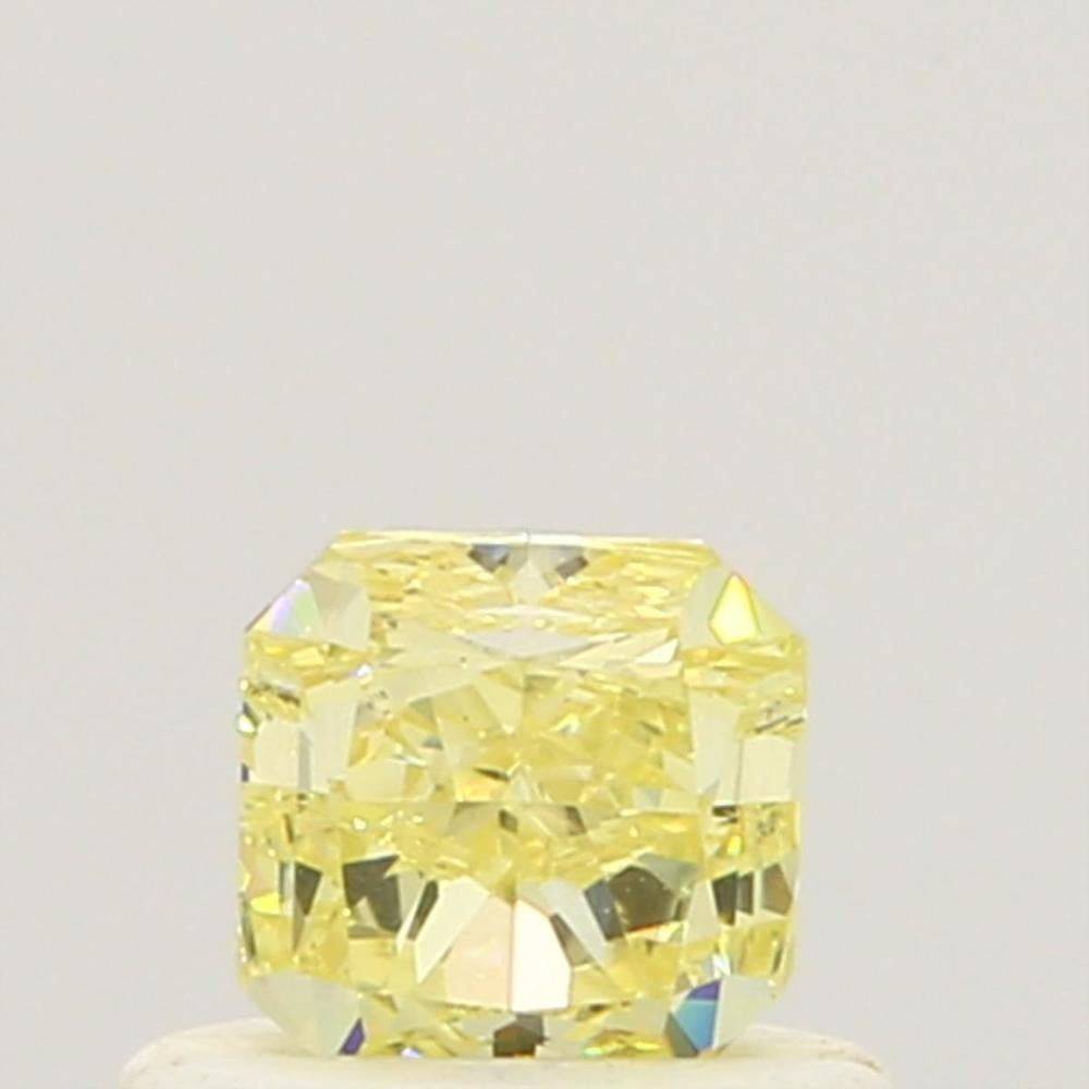 0.51 Carat Radiant Loose Diamond, Fancy Yellow, VS2, Ideal, GIA Certified