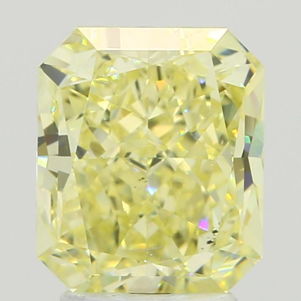 3.19 Carat Radiant Loose Diamond, Fancy Light Yellow, SI1, Super Ideal, GIA Certified