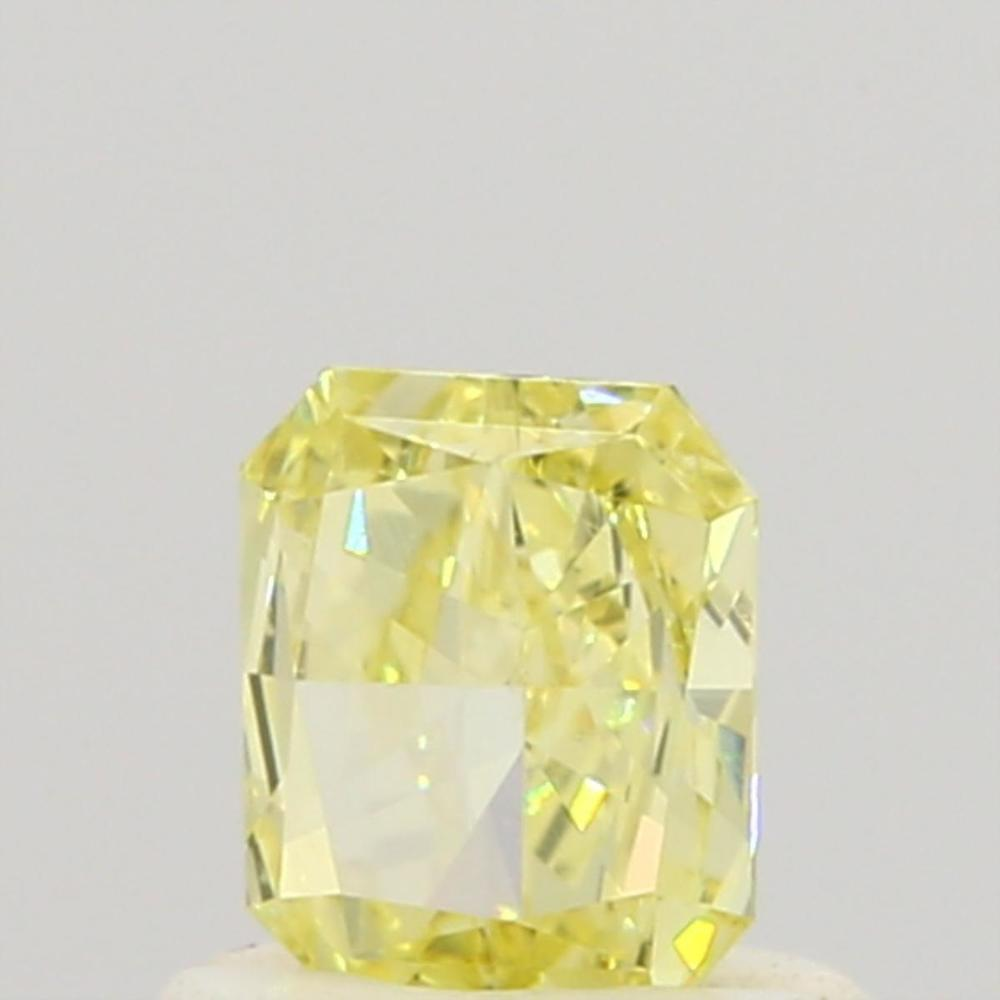 0.50 Carat Radiant Loose Diamond, Fancy Yellow, VVS1, Good, GIA Certified